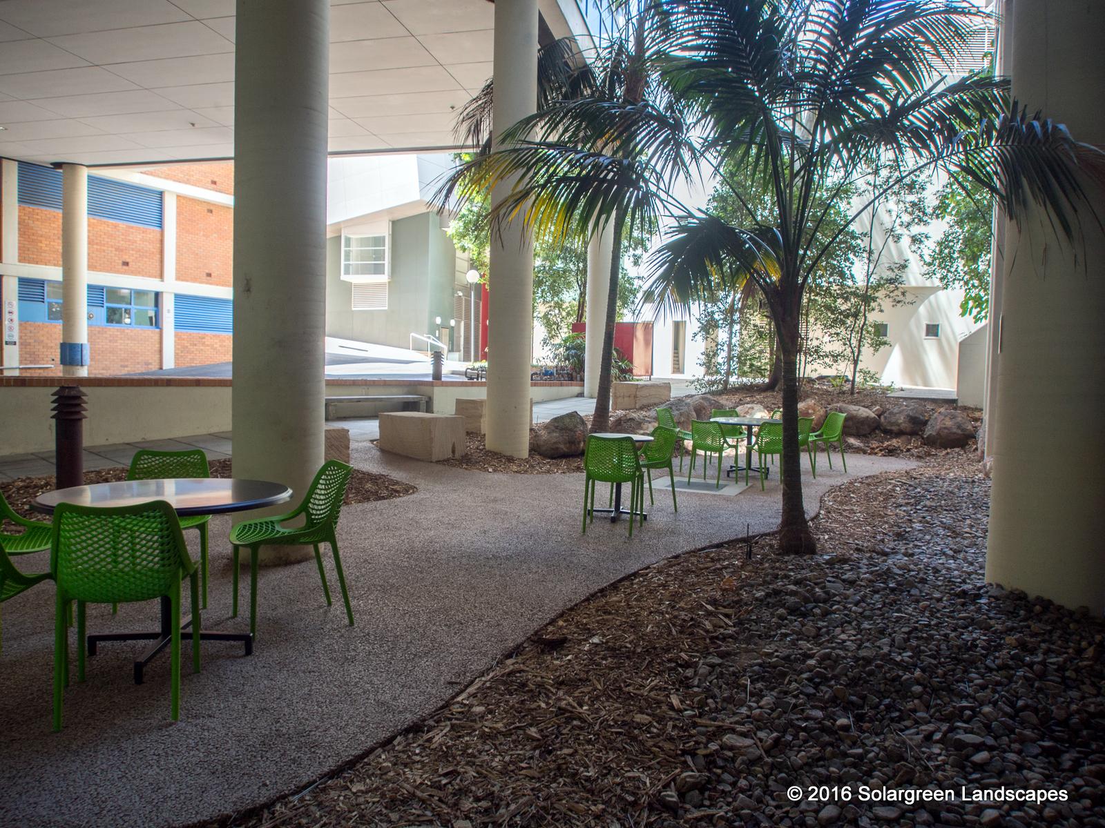 Beautiful UQ Therapies Courtyard Constrcuted